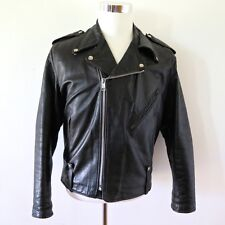 VINTAGE ORIGINAL AMF HARLEY DAVIDSON PERFECTO LEATHER JACKET 1960's SIZE 44