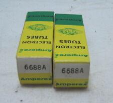 Pair of NOS Amperex PQ Model 6688A Vacuum Tubes