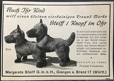 Steiff Knopf im Ohr,vierbeiniger Freund,Giengen a.Brenz,orig.Anzeige 1920