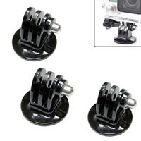 Refuelergy 3-Pack Monopod Tripod Mount Adapter for GoPro HD Hero2 3 3+ 4 5 Mount