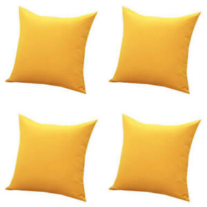 Plain 4 Pc Set Cushion Cover Unfilled Pillow Cover Indian Cotton Cushion Cover