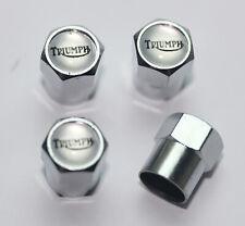 Triumph Silver Tire Valve Stem Caps Wheel - Plus Free Extra Cap - Total 5 Caps