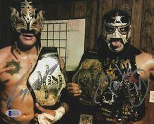 Pentagon Jr & Rey Fenix Signed 8x10 Photo BAS COA PWG Impact Wrestling Autograph