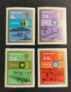 Guernsey 1982 Boy Scout Movement set  MUH B21