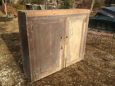 Primitive Wood Kitchen Jelly Cabinet 1800s Folk Art 1800s Tongue and Groove