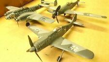 lot of 3 built 1/48 Airplanes for parts or Junkyard Bf-109,FW-190 A6M2 Zero