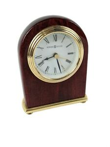 "Howard Miller 5"" Tall Arch Table Alarm Clock Model 613-487 TESTED"