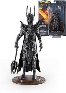 The Lord of the Rings Sauron Bendy Figure With Stand The Noble Collection