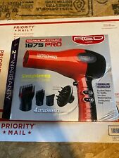 RED by KISS 1875 ProW Ceramic Tourmaline Hair Dryer with 4 Additional Styling NE