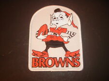 "Cleveland Browns Tri Color  ""Brownie"" Mascot 4"" x 5.25"" Hand Sewn Patch"