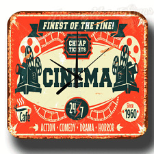 FINEST OF THE FINE CINEMA RETRO VINTAGE METAL TIN SIGN WALL CLOCK