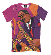 Blues t-shirt - saxophonist sax player tee colorful bright tee