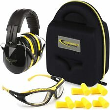 Shooting Range Earmuffs and Glasses Ear and Eye Protection Safety Anti-Scratch