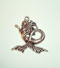 Pendant Mermaid Charm Sea Siren Mystical Water Fairy Sea Ocean Goddess Charm