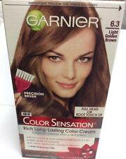 Garnier Hair Color Sensation Rich Long-Lasting Color Cream 6.3 Light Golde Brown