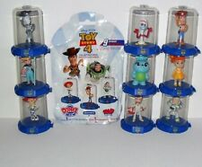 DOMEZ DISNEY TOY STORY 4 COMPLETE SET OF (9) LOOSE WITH PACKAGING & RARE WOODY
