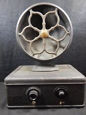 ATWATER KENT MODEL 40 AC TUBE RADIO RECEIVER W/ TUBES IN METAL & TYPE 2 SPEAKER