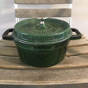 Staub La Cocotte Round Dark Green 20 Cookware France French