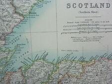 1910 MAP ~ SCOTLAND NORTHERN SHEET SUTHERLAND CAITHNESS ORKNEY SHELAND ELGIN