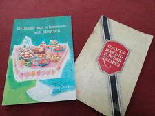 set  of 2 VINTAGE ADVERTISING COOKBOOKS BISQUICK & DAVIS BAKING POWDER RECIPES