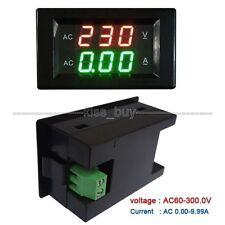 Digital AC 80-300V 10A Volt Amp LED Panel Meter + Current Transformer 110V 220V