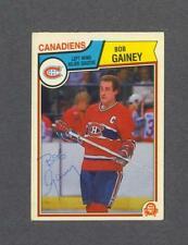 Bob Gainey signed Montreal Canadiens 1983-84 Opee Chee hockey card