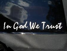 In God We Trust Vinyl Window Decals Stickers (Set of 2)