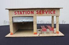 C647 Superbe ancien GARAGE SHELL MAJOLU vehicule miniature station service 35*19