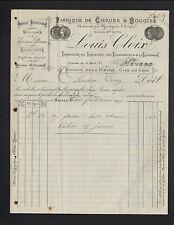 """NEVERS (58) USINE de CIERGES & BOUGIES """"ROFFIN / Louis CLOIX Succ."""" en 1907"""