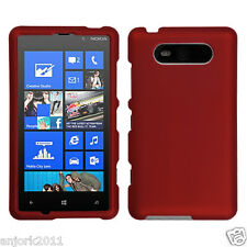 Nokia Lumia 820 Snap-On Hard Case Cover Accessory Solid Titanium Red