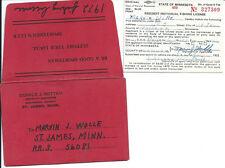 Vintage 1972 Minnesota Fishing License w/ Original Envelope St. James Wolle