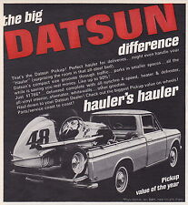1968 DATSUN PICK UP TRUCK ~ ORIGINAL SMALLER PRINT AD