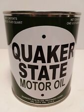 Vintage Quaker State Motor Oil Can 1 qt. - (Reproduction Tin Collectible)