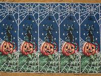 Halloween Pumpkin & Black Cat Crafters Tapestry Door Hanger Fabric ~ 10 pieces