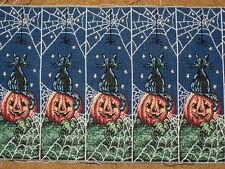 Halloween Happenings Pumpkins Crafters Tapestry Door Hanger Fabric ~ 5 pieces