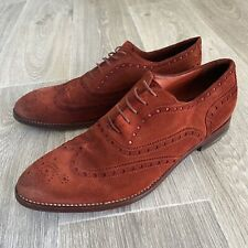 Paul Smith Collection Raspberry Red Suede Brogues Shoes - UK 8 US 9 E 42