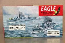 EAGLE EAGLEWALL PLASTICS 1:1200 WWII HMS PEACOCK FRIGATE & LILAC TRAWLER nz