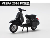 Welly 1:18 Vespa 2016 PX MOTORCYCLE BIKE DIECAST MODEL Toy NEW IN BOX Black