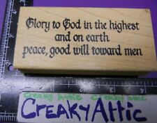 GLORY TO GOD IN THE HIGHEST EARTH PEACE TOWARD RUBBER STAMP ANN-TICIPATIONS