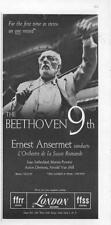 1960 London Records Print Ad Earnest Ansermet conducts The Beethoven 9th Photo