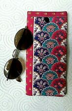 Moulin Rouge Sunglasses Case Handmade Fabric Padded Glasses Pouch Snap Close