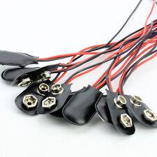 10pcs 9v Volt Battery Snap On Clip Lead Wire Battery Connector Plug Adaptors New