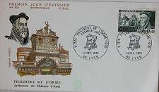 ENVELOPPE PREMIER JOUR - 9 x 16,5 cm - 1970 - PHILIBERT DE L'ORME - N° 705