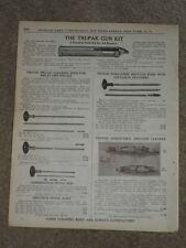 1940 Tri-Pak Gun Kit Rifle & Pistol Cleaing Rods Price List AD Catalog Page