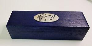 Wooden Altar Box Purple Black Candle Wicca Witch