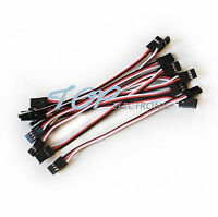 10pcs 10cm Quadcopter Servo Extension Lead Futaba JR Male to Male Wire Cable