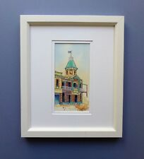 "Original Framed Line & Watercolour Wash ""Court Hotel"" Boulder, Western Australia"
