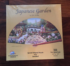 Sunsout Japanese Garden 1000 Piece Fan Shaped Jigsaw Puzzle New!