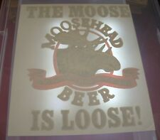 Vintage Moosehead Beer The Moose Is Loose Iron On Transfer