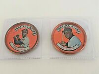 Baseball Coin Vtg Topps 1964 All Stars Willie Mays 151 SF, Hank Aaron 149 Braves
